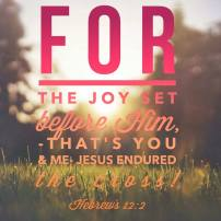Image result for for the joy set before him